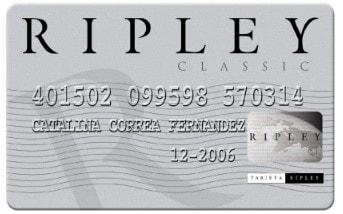Tarjeta clásica del banco ripley