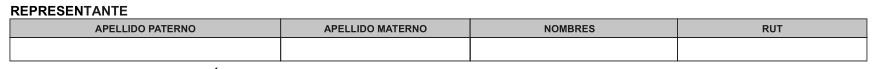 Formulario 3230 - representante legal