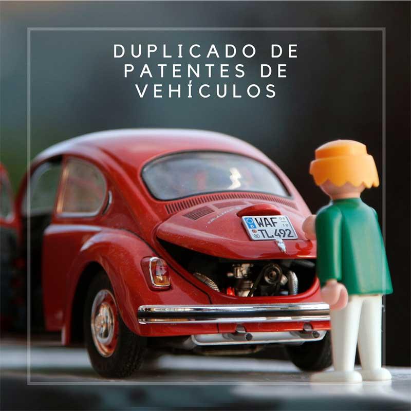 duplicado de patentes de vehículos