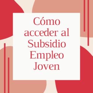 Subsidio Empleo Joven