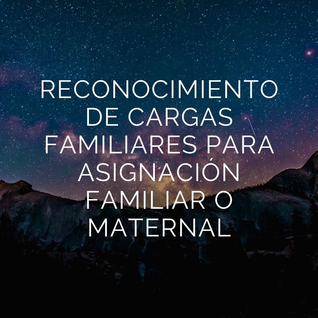 reconocimiento de cargas para asignación familiar