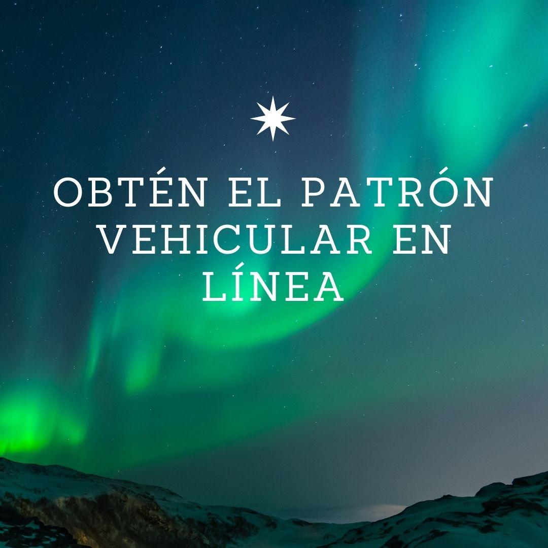 Obtén el patrón vehicular en línea